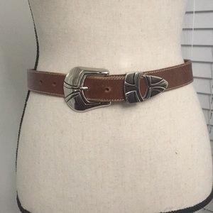 Milor Brown leather belt